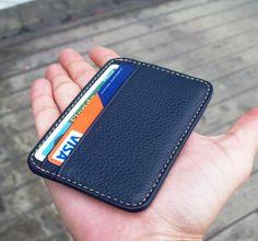 genuine leather slim wallet