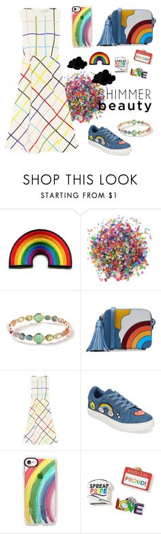 """#pride"" by taniapauleen ❤ liked on Polyvore featuring Dress My Cupcake, Ippolita, Anya Hindmarch, Mary Katrantzou, Betsey Johnson, Casetify and pride"