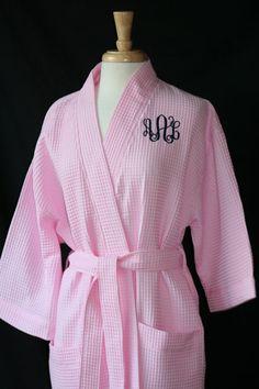 PERSONALIZED Waffle Weave Spa or Bath Robe by EmbroideryMark, $29.00  www.embroiderymark.etsy.com