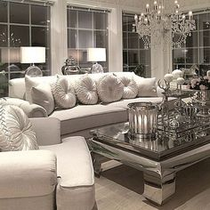 Here are some doable living room decor and interior design tips that will make your home cozy and comfortable for family and friends. Elegant Living Room, Elegant Home Decor, Formal Living Rooms, Home Living Room, Cheap Home Decor, Living Room Designs, Living Room Decor, Dining Room, Casa Disney