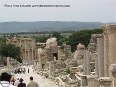 Curetes Street Ephesus, Turkey.  To see more photos of Ephesus, please visit our Ephesus board