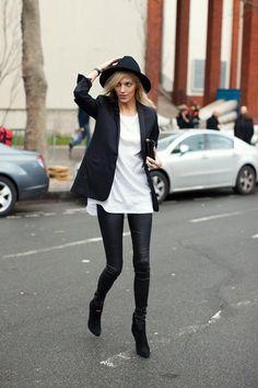 Little Black Dress: Moda: Cómo combinar leggins