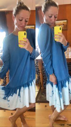 Dipped this old Zara dress in bleach. Turned out great! Bleach Dye, Zara Dresses, Ruffle Blouse, Tops, Women, Fashion, Moda, Women's, La Mode