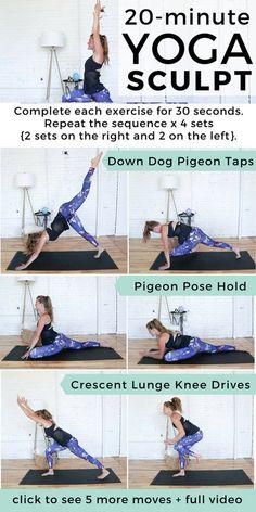 Beginner HIIT Cardio Yoga Workout | cardio workout I yoga I yoga for beginners I hiit I 20 minute workout II Nourish Move Love #yoga #cardio #hiit