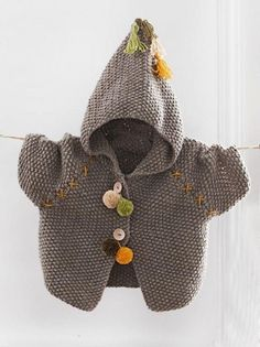 The Knitting Needle and the Damage Done: Bergère de France Magazine A Revi… - Babykleidung Baby Knitting Patterns, Baby Cardigan Knitting Pattern, Knitting For Kids, Baby Patterns, Knitted Baby Clothes, Knitted Hats, Pull Bebe, Baby Coat, Baby Sweaters