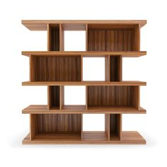The mid-century design of the Elias Bookshelf combines visual appeal with practical storage capabilities through its stacked timber veneer open storage units. Divider Cabinet, Shelf Furniture, Elm Wood Furniture, Bookcase, Display Bookcase, Shelves, Bookshelves, Elm Furniture, Small Space Storage