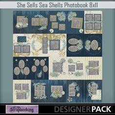 Seashells8x11  #ArtForScrapbooking.com #MyMemories.com #digital #scrapbooking #AFS_sharon