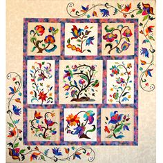 Pin from pinner: Janet the quilter......Jacobean Fantasy made by Janet Beyea