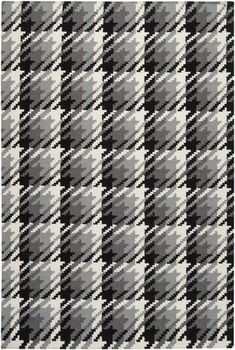 This flat weave rug is handwoven and reversible in a lovely blend of greys and black to make up the plaid pattern. From the Frontier Collection by Surya. (FT-132)