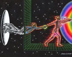 Psychedelic Art, Trippy Wallpaper, Hippie Wallpaper, Japon Illustration, Hippie Art, Visionary Art, Retro Futurism, Surreal Art, Aesthetic Art