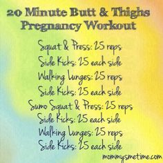 Pregnancy and Post Partum Workout from Mommy's Me Time