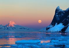 Cold Moon, Antarctic, photo taken by my Dad