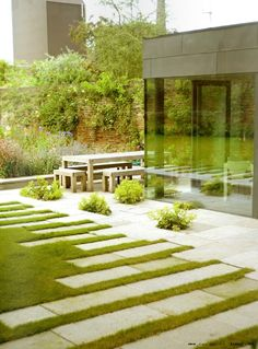 Can accomplish a similar look with ORCO Pavingstones 12x24s
