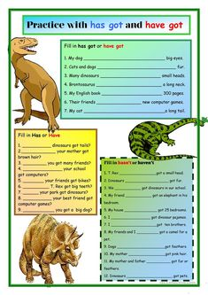 Dinosaurs:Has Got and Have Got