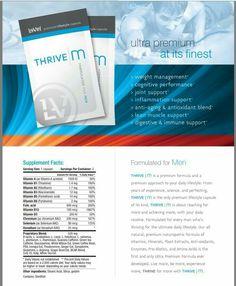 Thrive Men's Capsule Ingredients www.heatherwestrich.le-vel.com
