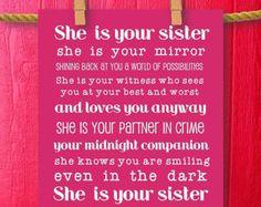 Sisters Gift Big Sister Little Sister Little by WeLovePrintableArt