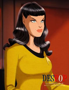 Female Vulcan Captain by DESPOP.deviantart.com on @DeviantArt