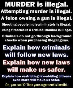 A Woodsrunner's Diary: Firearms Legislation !!! A Message to all anti-gun...