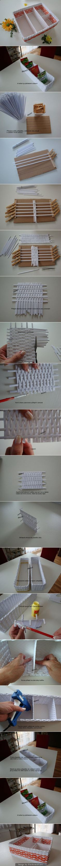 I guess this would be an alternative method to actually weaving. Hobbies And Crafts, Fun Crafts, Diy And Crafts, Diy Paper, Paper Art, Diy Projects To Try, Craft Projects, Origami, Diy Y Manualidades