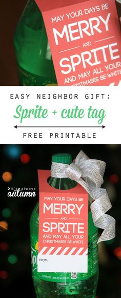 easy neighbor gift idea merry sprite primary christmas giftschristmas gifts for