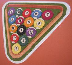 Cross Stitch Pattern   Billiard Ball & Rack  pdf pattern