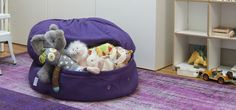 Mimish Pouf that Stores Toys. Great for my dogs' toys that are out of rotation.