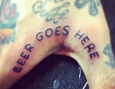 If I ever got a funny tattoo this would be it!