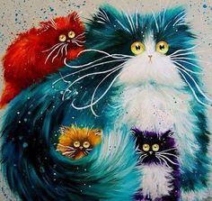 [Visit to Buy] Decoration Mosaic picture Needlework DIY Diamond Painting Cross Stitch Square Diamond embroidery rhinestone Color cat zs24 #Advertisement