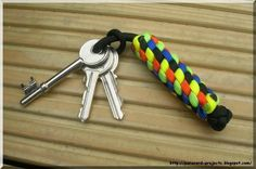 In this instructable I will show a few easy steps on how to make a 5 color key fob using paracord. For this project you will need: * 5 - different paracord colors or the same, you decide. * Scissors * Lighter * plastic clip or rubber band. Everyone is welcome to have a look at my blog where I have a few more guides: http://paracord-projects.blogspot.com/