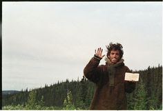"""Last known photograph of Chris McCandless (aka Alexander Supertramp) in Alaska - subject of """"Into the Wild""""."""