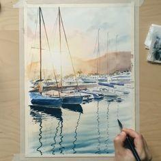 Качество #painting #watercolor #art #artlulebedeva #drawing #aquarelle #sea #waterblog #artfidovideo #speedpainting