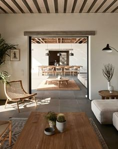 Living Room Interior, Home Interior Design, Interior Architecture, Modern Home Interior, Summer House Interiors, Greece House, Villa, Mediterranean Decor, Minimalist Home Decor