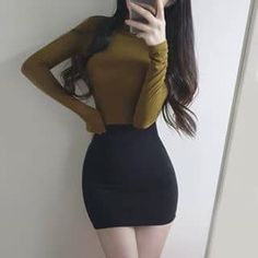 Winter Fashion For Teen Girls Picture Ideas - Unity Fashion Korean Fashion Trends, Asian Fashion, Teen Fashion, Skinny Girl Body, Skinny Girls, Pretty Outfits, Stylish Outfits, Cool Outfits, Mode Kpop