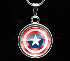 Captain America Necklace Shield Necklace kids by peegu on Etsy, $8.99