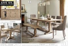 Buy Hardwick Seater Extending Dining Table from the Next UK online shop Extendable Dining Table, Round Dining Table, Kitchen Dining, Dining Bench, Dining Room Design, Dining Room Furniture, Large Sideboard, Solid Oak, Uk Online