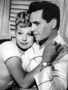 """Lucille Ball and Desi Arnaz - TV's pioneering couple. As producer of """"I Love Lucy"""" Desi Arnaz was responsible for transforming Lucy from former movie star/glamour girl to comic genius and the Queen of Television. Classic Hollywood, Old Hollywood, Hollywood Couples, Celebrity Couples, Hollywood Glamour, Hollywood Stars, Celebrity News, Celebrity Style, Divas"""