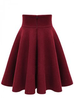 Thickening Winter Skirt High Waist Skirts Black Red Pleated Skirt Vintage Plus Size Tutu Skirt Mini Saia Jupe Courte Wine Red XX Red Pleated Skirt, Midi Flare Skirt, High Waisted Skirt, Midi Skirts, Circle Skirts, Purple Skirt, Flared Skirt, Plus Size Tutu Skirt, Skirt Outfits