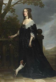 1642 The Winter Queen by Gerrit van Honthorst (National Gallery - London UK)