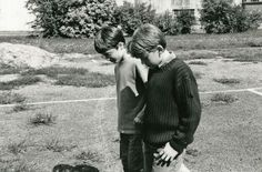 The day Daniel Radcliffe and Rupert Grint met.  Aaww.