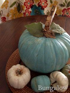 Annie Sloan painted pumpkins