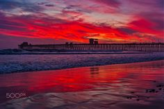 Fiery Sunset at the Oceanside Pier - March 14, 2017 - Oceanside, CA March 14, 2017 Photo: ©2017 Rich Cruse \ CrusePhoto.com