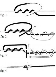 <b>2. Blood Knot</b><br><br> This knot is valuable to all fishermen for joining two monofilament lines, and is very popular for anglers using leaders, like fly fishermen. It's fast and easy to tie, its only drawback is that strands to be connected must b