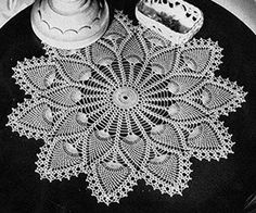 Pineapple Doily Pattern #7275