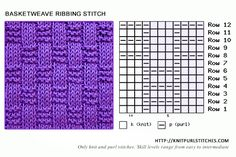 Basketweave Ribbing Stitch is quite simple to do and looks so pretty.