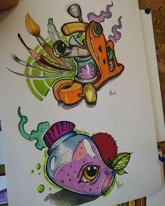 Find the perfect tattoo artist to create the work of art that is you Sketch Tattoo Design, Tattoo Sketches, Tattoo Drawings, Tattoo Designs, Desenho New School, Tatuagem New School, Ink Master Tattoos, Body Art Tattoos, Graffiti Drawing