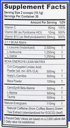 Evlution Nutrition BCAA Lean Energy - Energizing Amino Acid for Muscle Building Recovery and Endurance, with a Fat Burning Formula, 30 Servings - UKsportsOutdoors