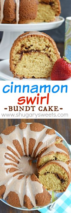 Cinnamon Swirl Bundt Cake - Shugary Sweets