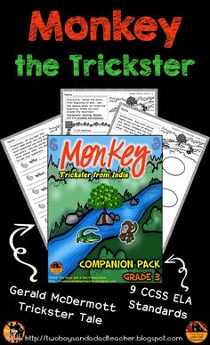 Another wonderful trickster tale by Gerald McDermott. This companion pack includes support materials for your lessons on 9 third grade CCSS for fiction. Use the material to enhance your lessons, provide independent work and practice using this wonderful story. Check out the complete resource in my store!