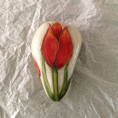 Hey, I found this really awesome Etsy listing at https://www.etsy.com/listing/194697762/hand-painted-rock-of-two-red-tulips