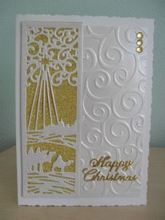 Inspiration | docrafts.com Christmas Cards 2017, Religious Christmas Cards, Christmas Card Crafts, Xmas Cards, Christmas Themes, Hallmark Christmas, Merry Christmas, Sue Wilson, Projects To Try